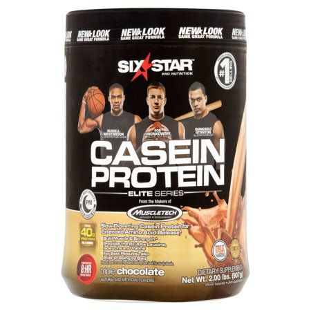 Six Star Pro Nutrition Elite Series Casein Protein Triple Chocolate Dietary Supplement  2 Lb
