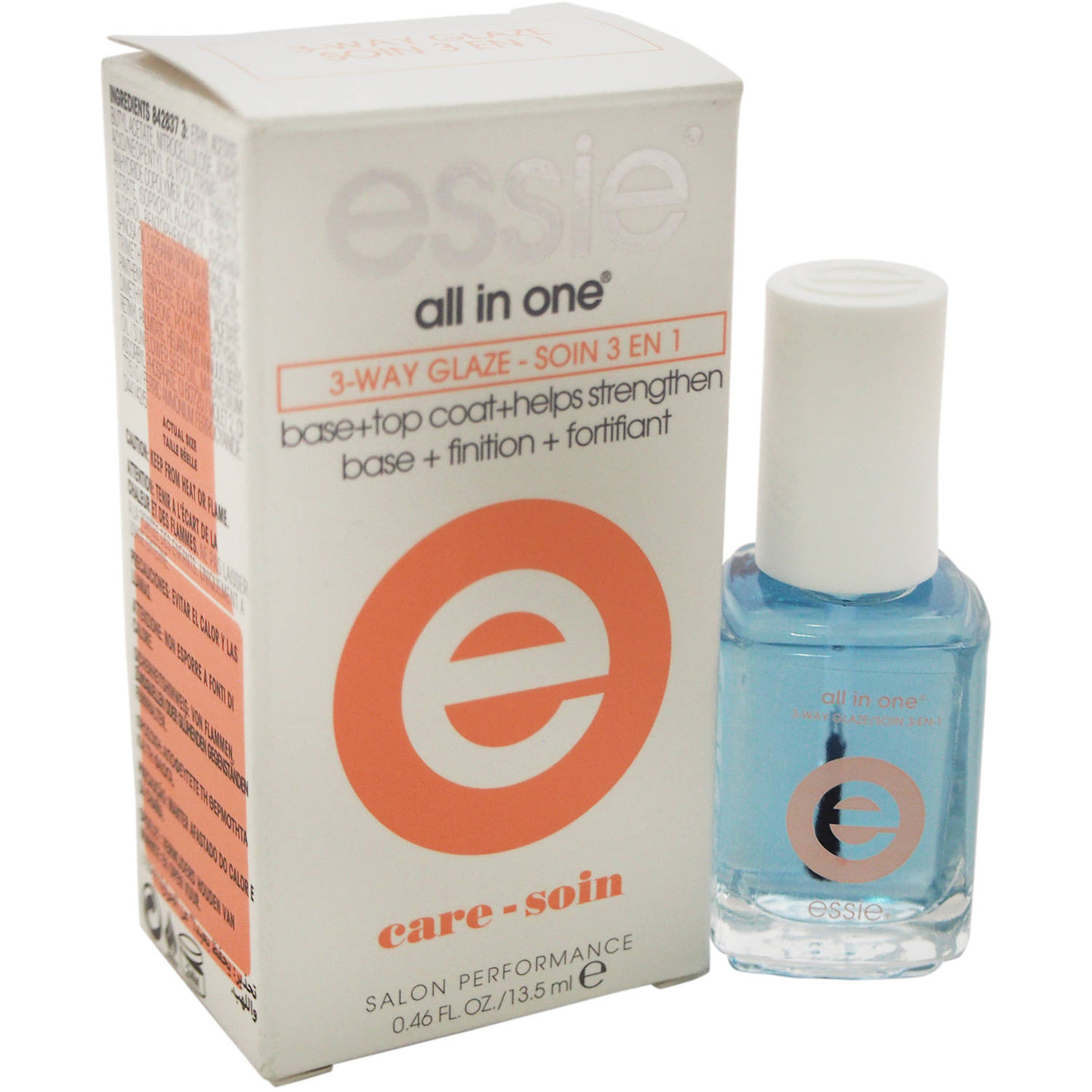 essie for Women All In One 3-Way Glaze Nail Polish, 0.46 oz