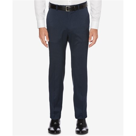 Perry Ellis Mens Stretch Crosshatch Dress Pants Slacks