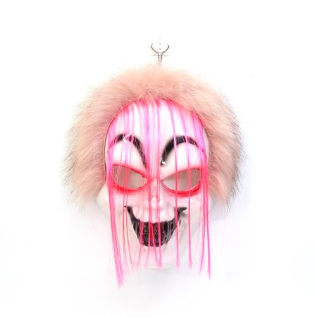 Elegantoss Creepy Scary or Funny Clown Mask with Light-Up Eyes Prop for Horror Halloween Costume Cosplay Halloween Party Decorations ()