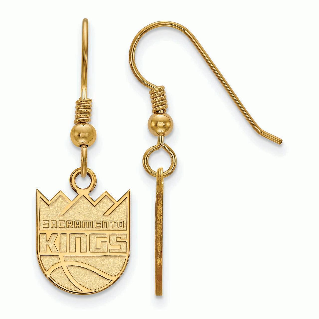 Sacramento Kings Women's Gold Plated XS Dangle Earrings - No Size