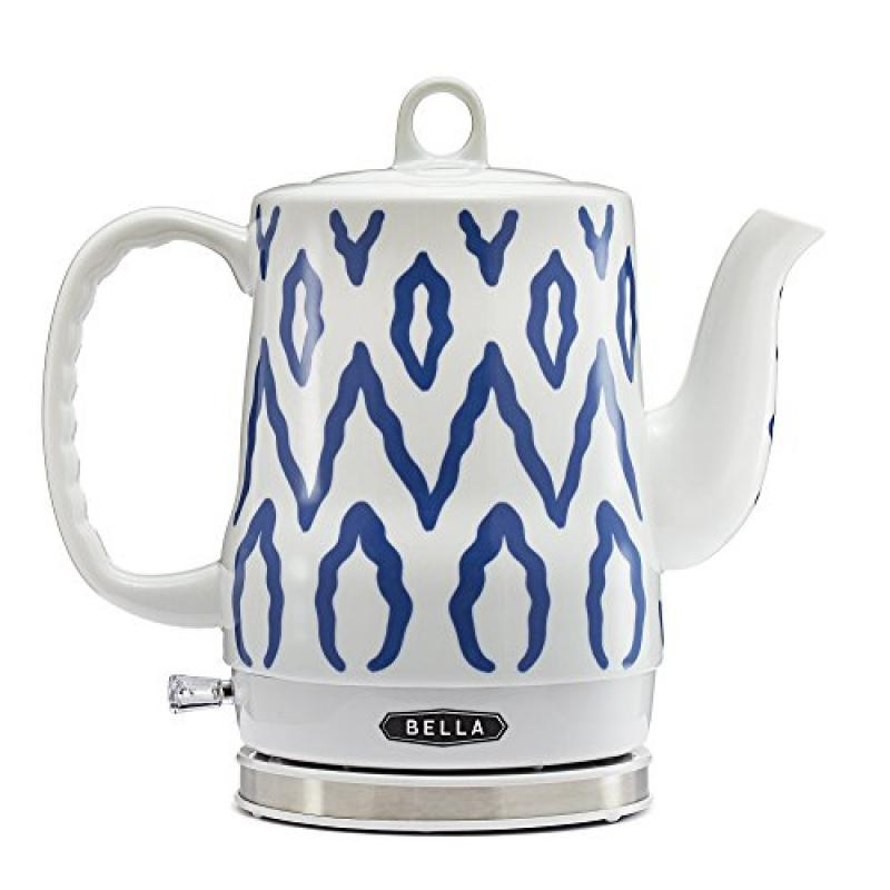 Bella 1.2L Electric Ceramic Tea Kettle with detachable ba...