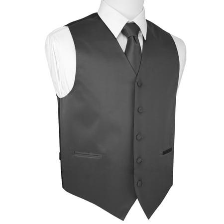 Italian Design, Men's Tuxedo Vest, Tie & Hankie Set - - Novelty Tuxedo Vests