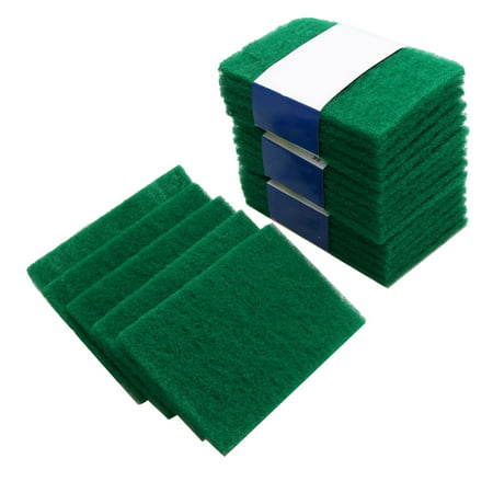 Kitchen Cleaning Scrub Sponge Scouring Pads Non-Scratch Pads for Dishes Cleaning Green 20pcs (Green Scrubber)