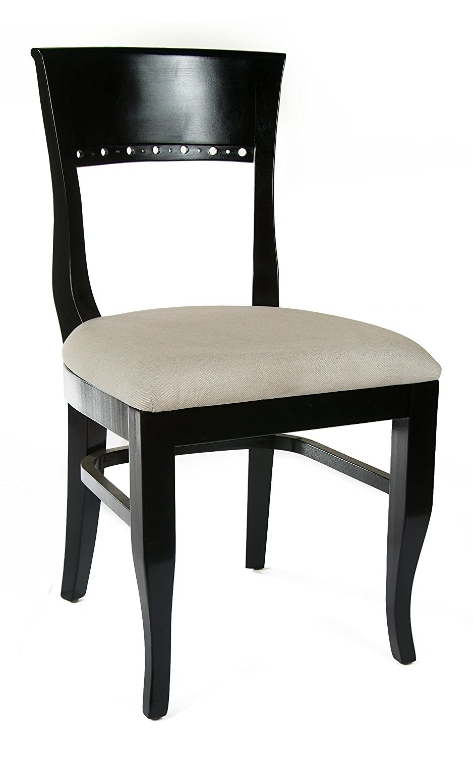 Beechwood Mountain BSD-6S-B Solid Beech Wood Side Chairs in Black for Kitchen and dining, set of 2 by Beechwood Mountain