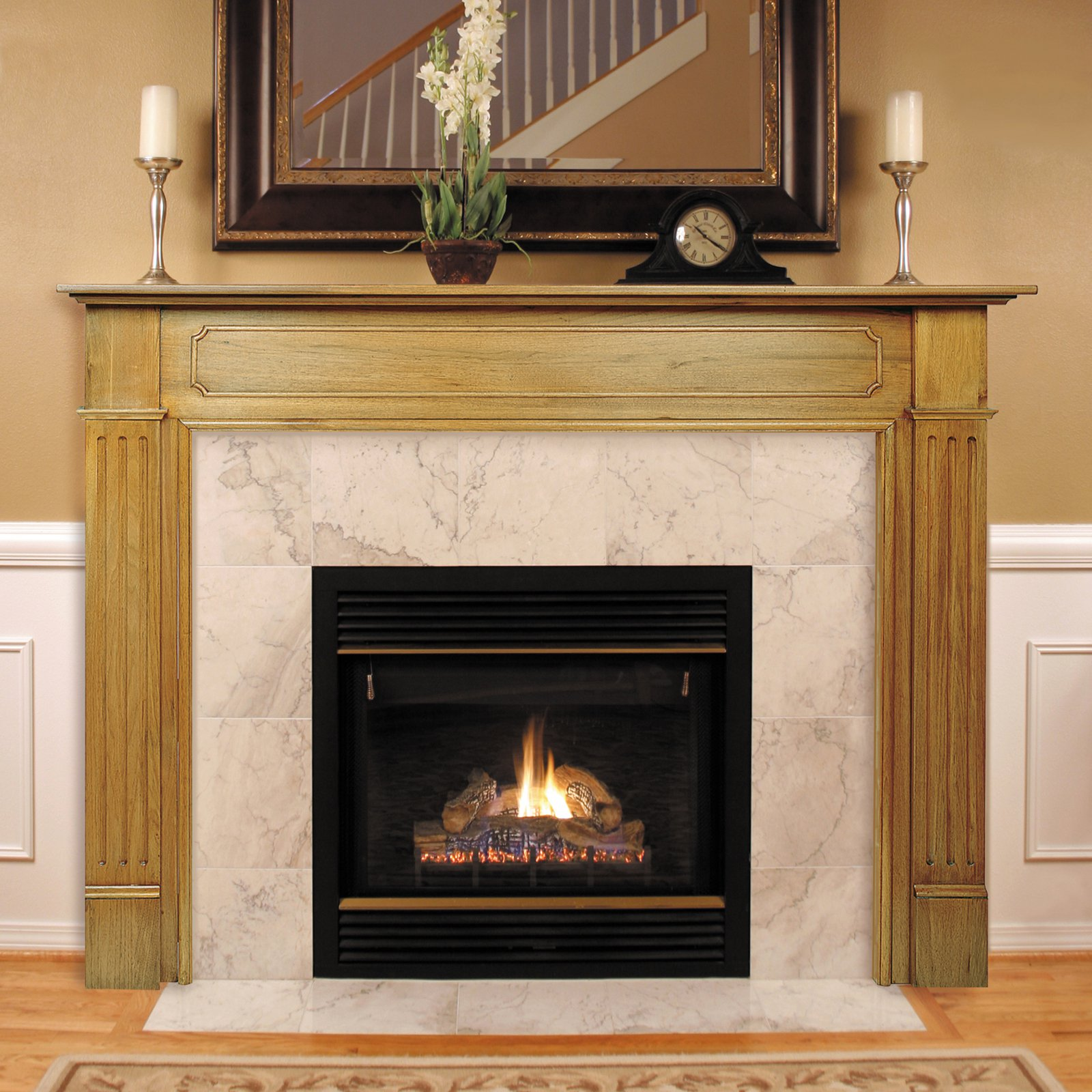 Pearl Mantels Williamsburg Wood Fireplace Mantel Surround
