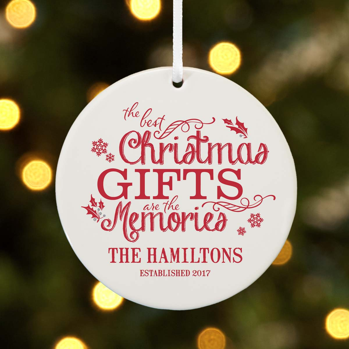 Personalized Best Christmas Gifts Christmas Ornament