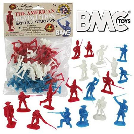 BMC Revolutionary War Plastic Army Men - 34 British, American, French Soldiers British Army Cavalry Regiments