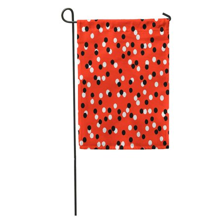 KDAGR Ditsy Polka Dot Pattern Scattered Small Circles in Red Black Garden Flag Decorative Flag House Banner 12x18 inch