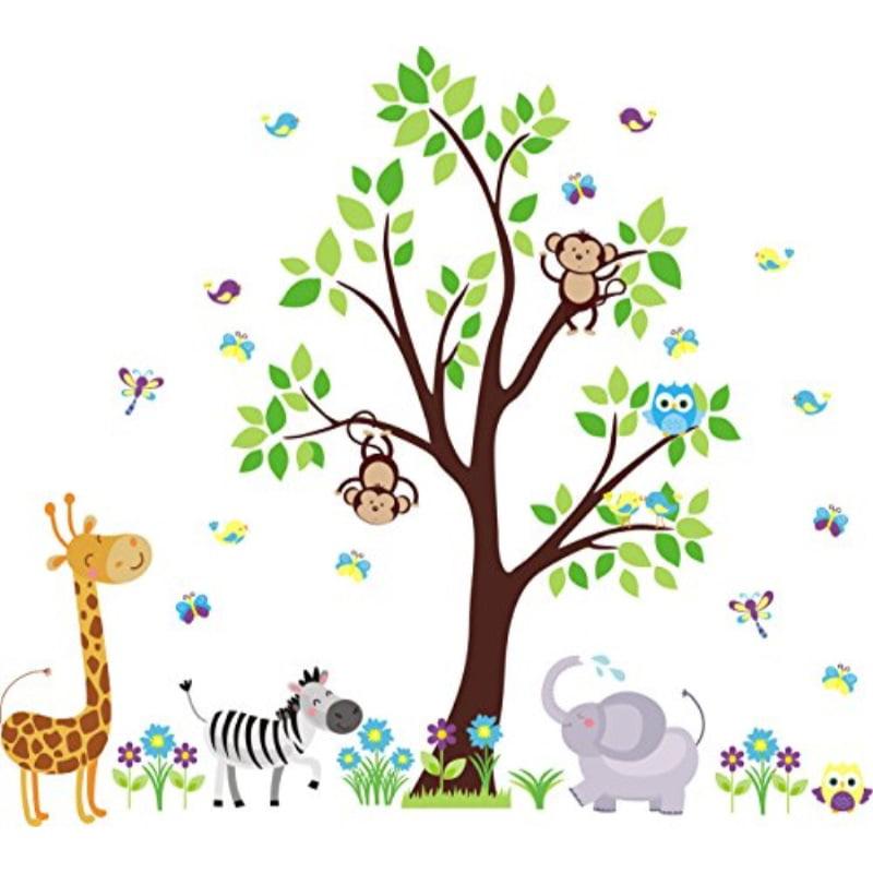Nursery Wall Decals Jungle And Safari