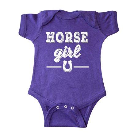 Horse Girl Cowgirl Equestrian Infant Creeper