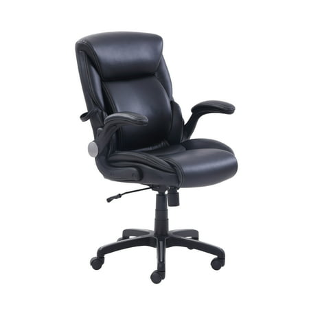 Office Chairs Walmart >> Serta Air Lumbar Bonded Leather Manager S Office Chair