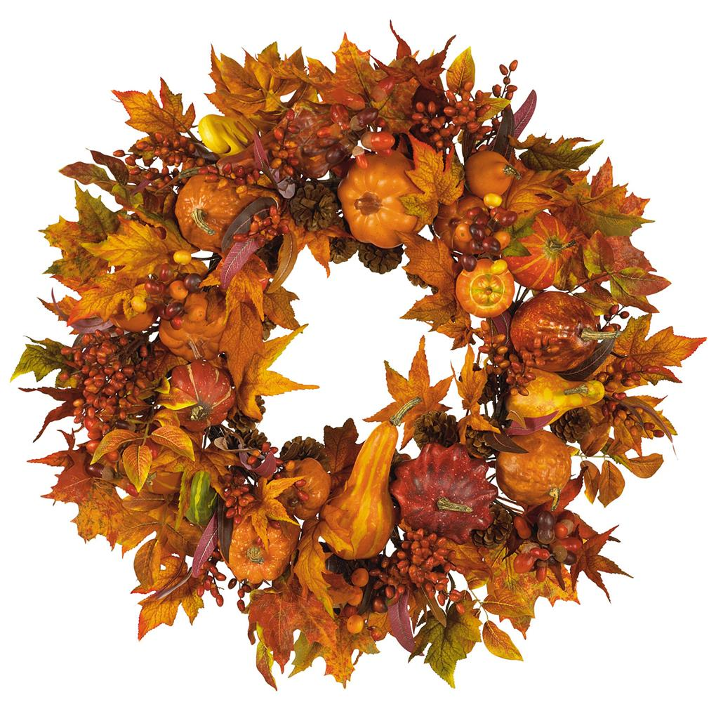 Nearly Natural 28-in. Artificial Harvest Wreath