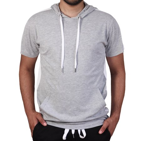 Bleecker & Mercer Short Sleeve Hoodie with Side Taping (Eevee Hoodie With Ears)