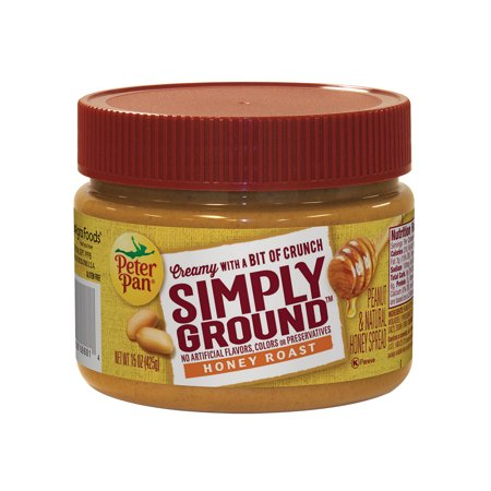Peter Pan Simply Ground Honey Roast Peanut   Natural Honey Spread  15 Ounce