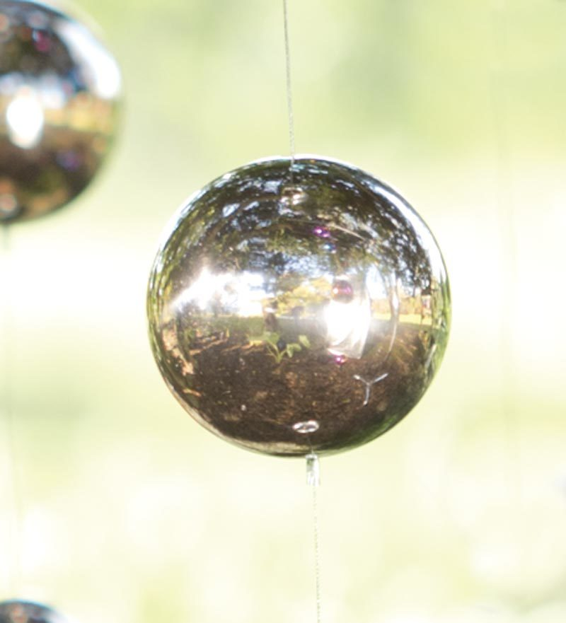 Hanging Gazing Ball Chain Garden Accent by Garden Accents