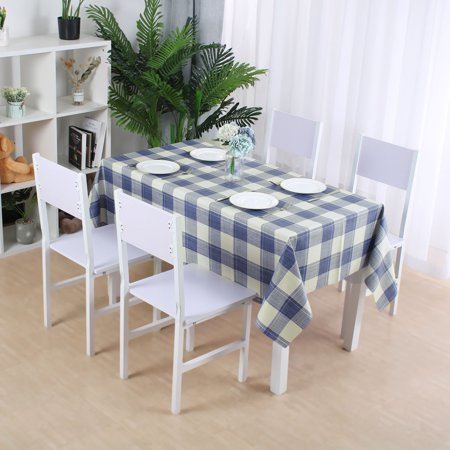 "Tablecloth PVC Oil Stain Resistant Plaid Pattern for Rectangle Table 39""x63"",#7 - image 1 of 7"