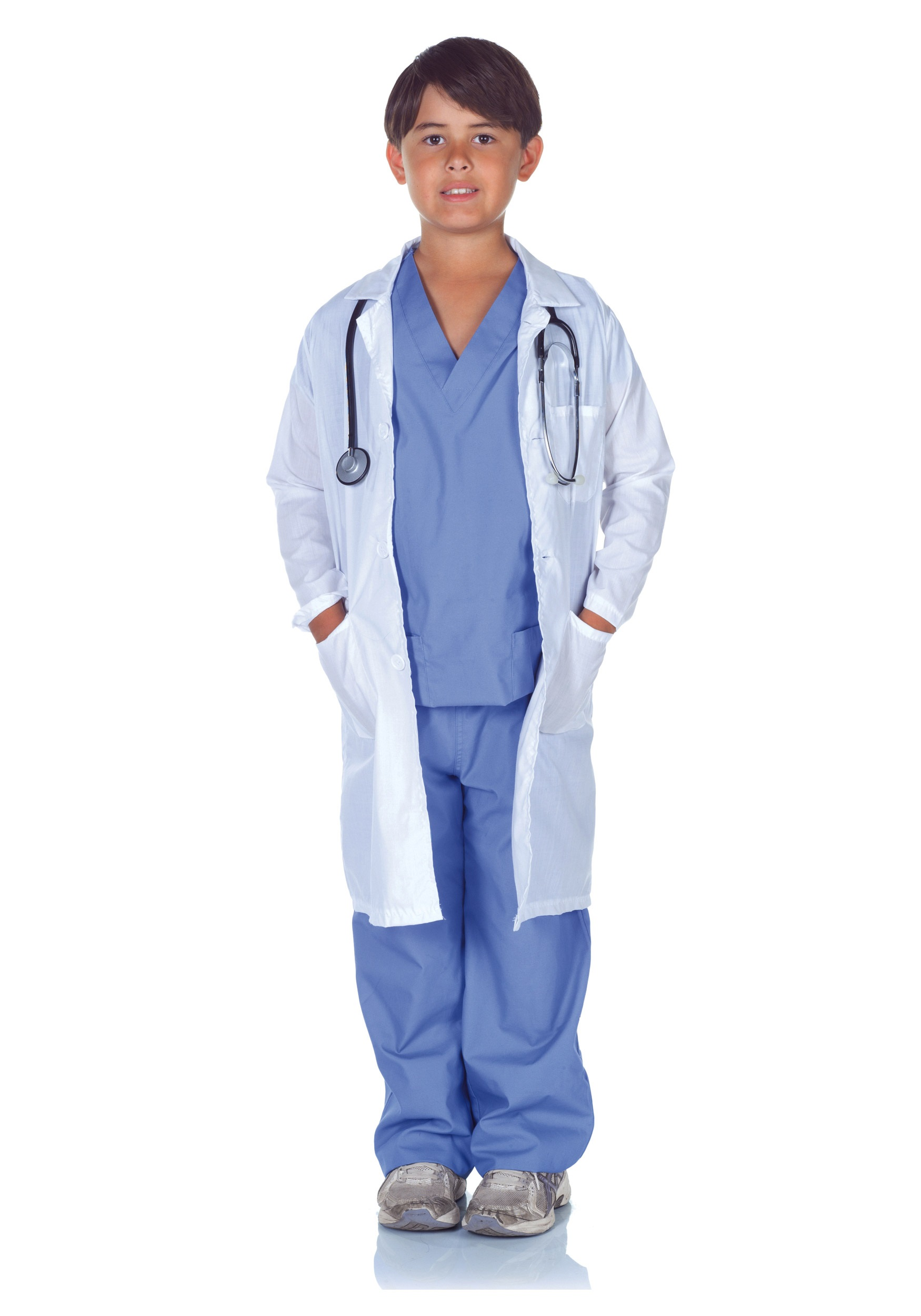 ada5a12f72d Doctor Scrubs with Lab Coat Boys' Child Halloween Costume - Walmart.com