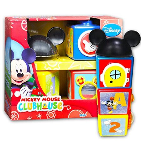 Disney Mickey Mouse Clubhouse Activity Story Blocks Set (Disney Learning Toys for Toddlers Babies) ()
