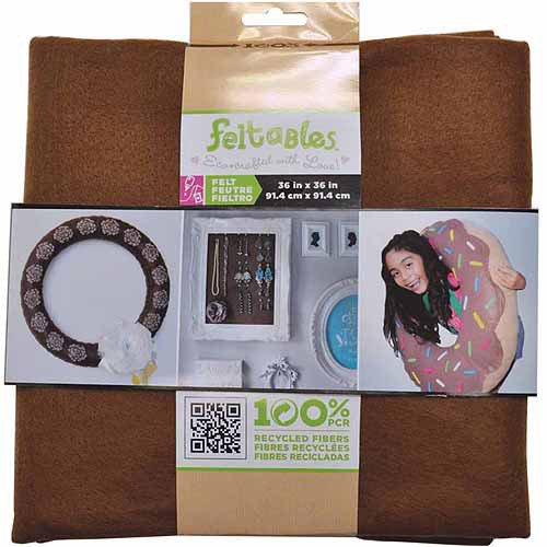 Feltables Craft Pack Felt Solid Piece 36 Inch X 36 Inch-Cocoa