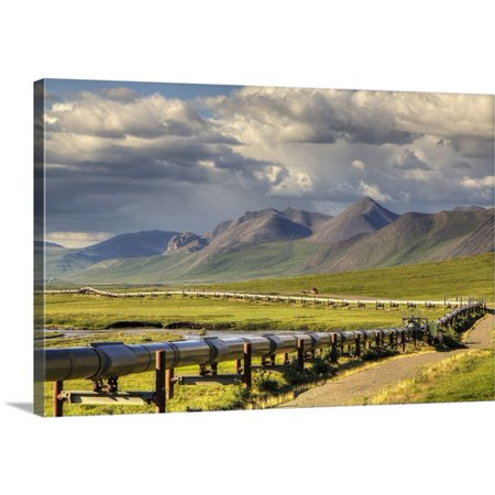 Great Big Canvas Lucas Payne Premium Thick Wrap Canvas Entitled Semi Truck Driving The Haul Road Along The Trans Alaska Oil Pipeline