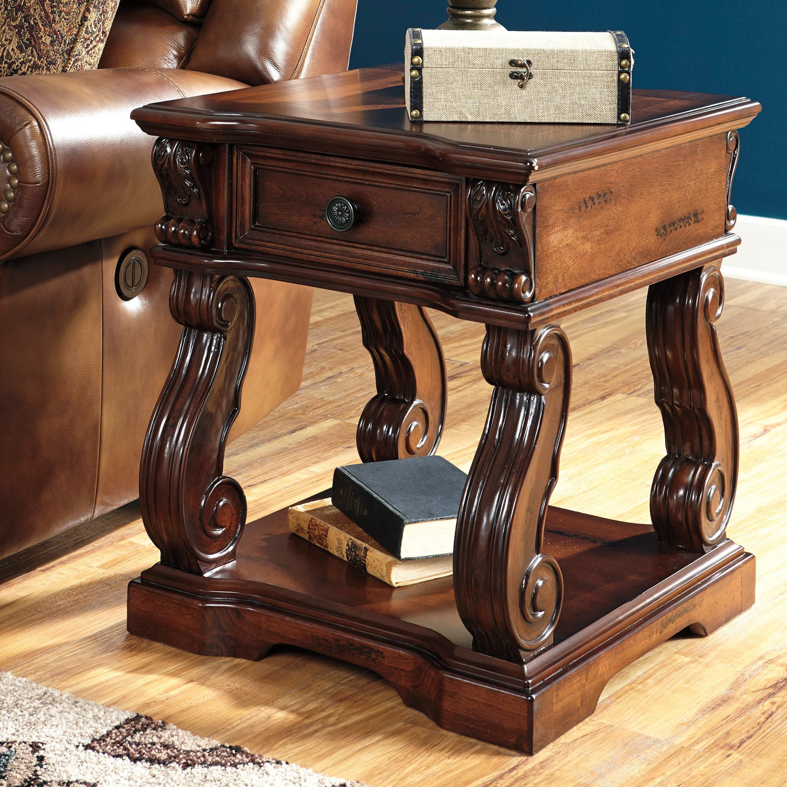 Signature Design By Ashley Alymere Brown Square End Table