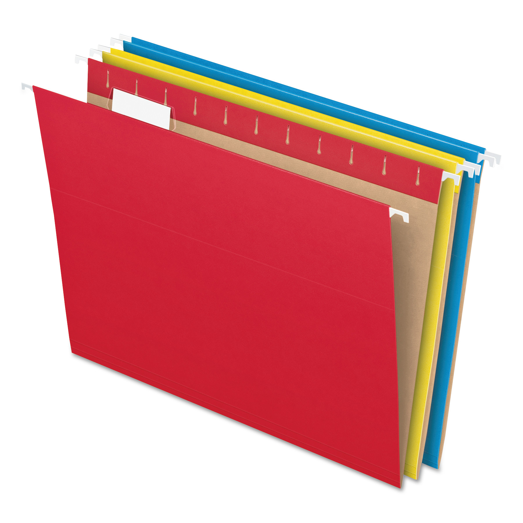 Pendaflex Colored Hanging Folders, 1/5 Tab, Letter, Assorted Colors, 25/Box