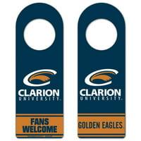 Clarion Golden Eagles Wooden Tier Door Hanger - Navy Blue