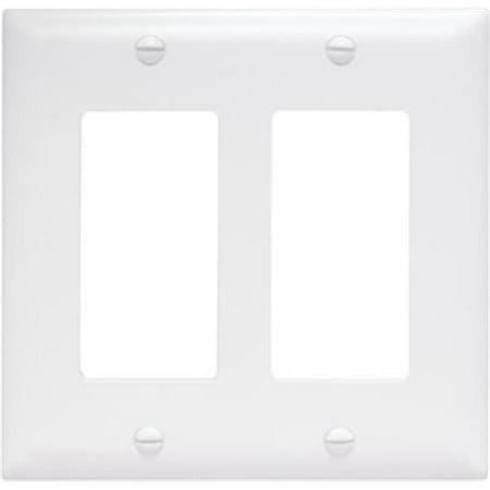 On-Q/Legrand Decorator Wallplate, 2-Gang, White - image 1 of 1