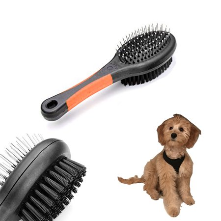 Double Sided Pet Brush Dog Cat Hair Grooming Coat Comb Fur Cleaner Pin Bristle