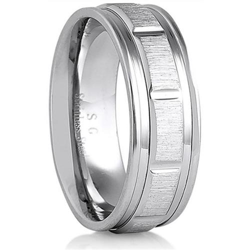 Doma Jewellery SSSSR12210 Stainless Steel Ring, Size 10