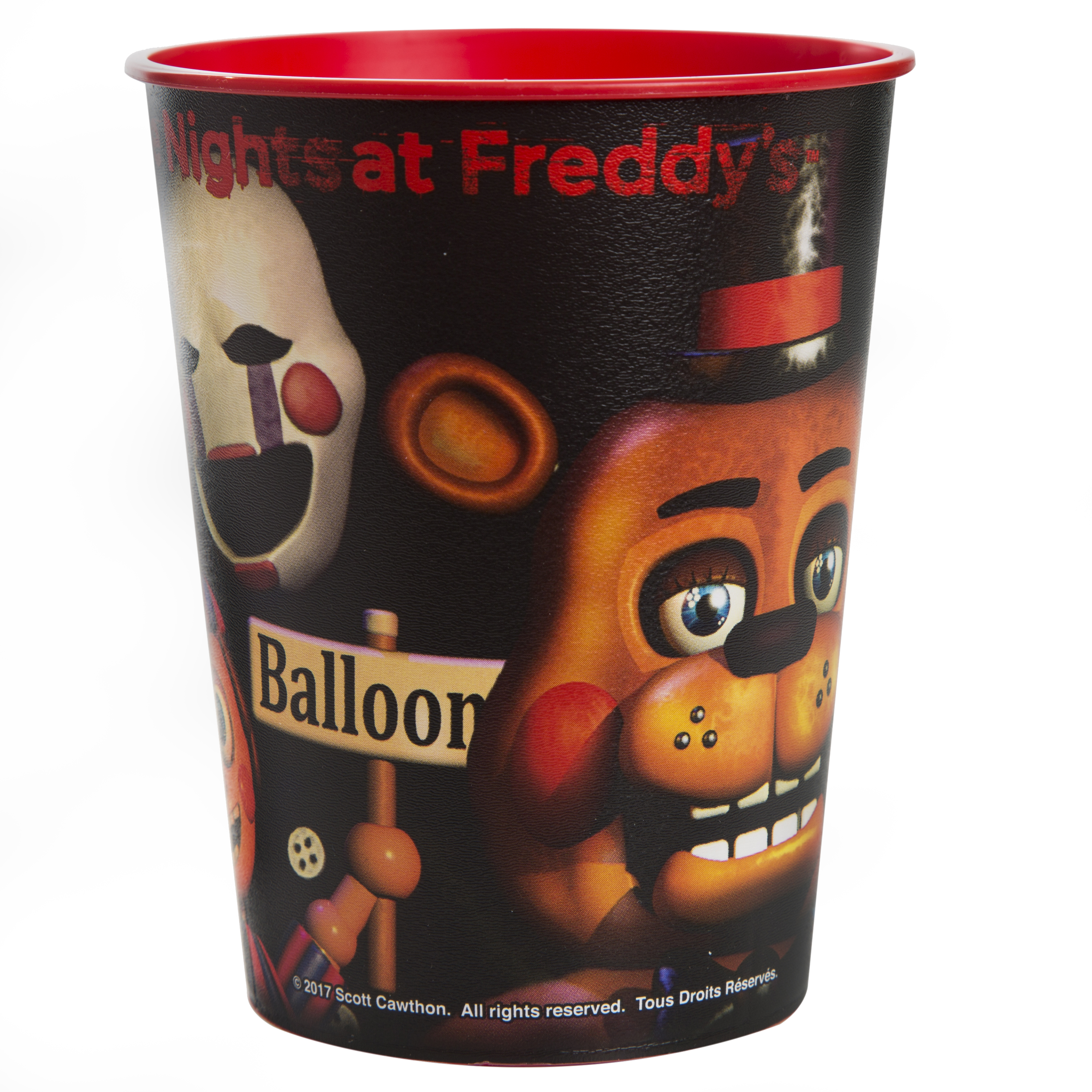 Five Nights at Freddy's Plastic Cup, 16 oz, 1ct