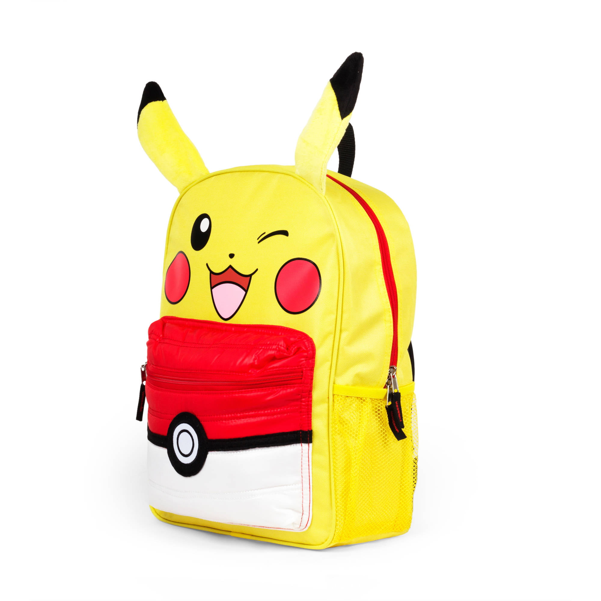 "Pokemon Pikachu 16"" Kids Licensed Backpack with Puffed Pocket by FAB NY"