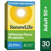 Renew Life Adult Probiotic - Ultimate Flora Adult 50+ Probiotic Supplement - 25 Billion CFU - 30 Vegetarian Capsules