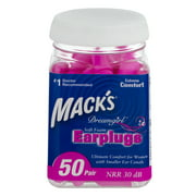 Best Ear Plugs For Small Ear Canals - Mack's Dreamgirl Ear Plugs, 50 Ct Review