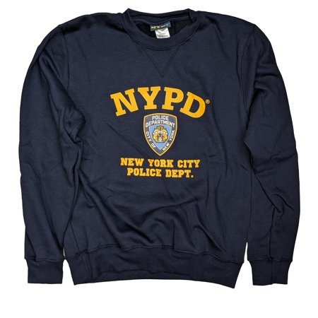 NYPD Mens Sweatshirt Offically Licensed Crewneck Navy Blue (Navy Blue, 2XL) Navy Blue Crewneck Sweatshirt