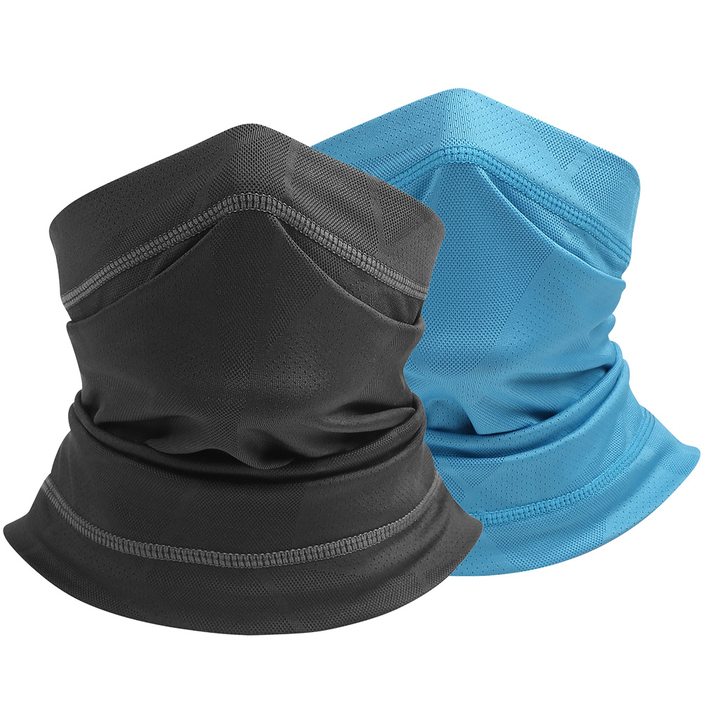 Cooling white Neck Gaiter Face Scarf Sun Shield Balaclava Bandana Headband 5 pk
