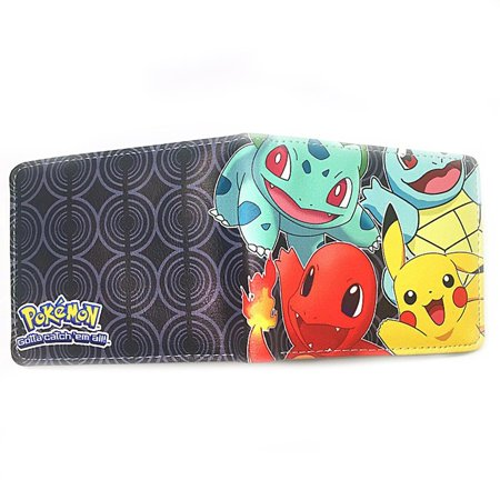 Anime Pokemon Starters Mens Boys Wallet w/Gift box By Superheroes - Boys Wallets