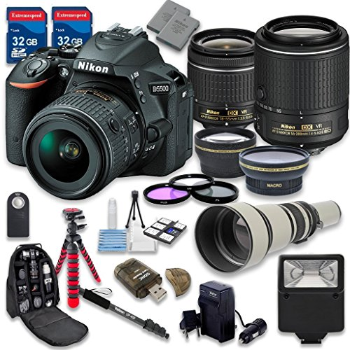 Nikon D5500 DSLR Camera with 18-55mm Lens + 55-200mm f/4-5.6