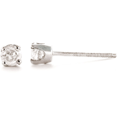 1/4 Carat T.W. Round Diamond 14kt White Gold Stud Earrings