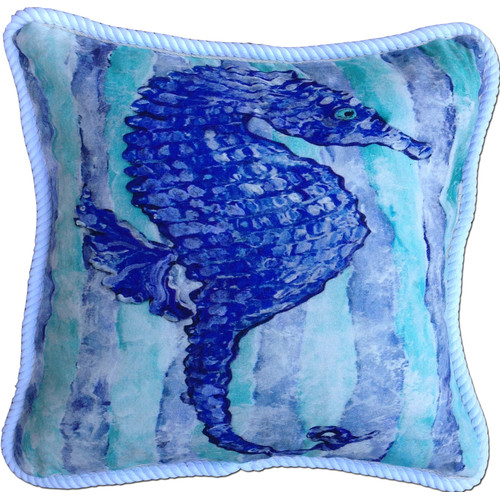 My Island Seahorse Indoor/Outdoor Throw Pillow