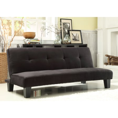 Chelsea Lane Tufted Mini Sofa Bed Lounger - Black