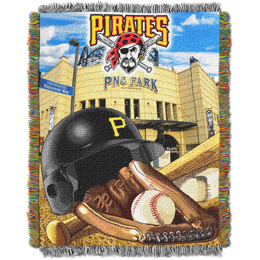 "MLB 48"" x 60"" Home Field Advantage Series Tapestry Throw, Pirates"