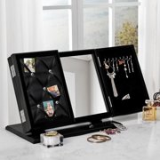 Adriana 3-in-1 Trifold Tabletop Vanity Mirror -  Jewelry Storage | Memo Board | Modern & Contemporary | Inspired Home
