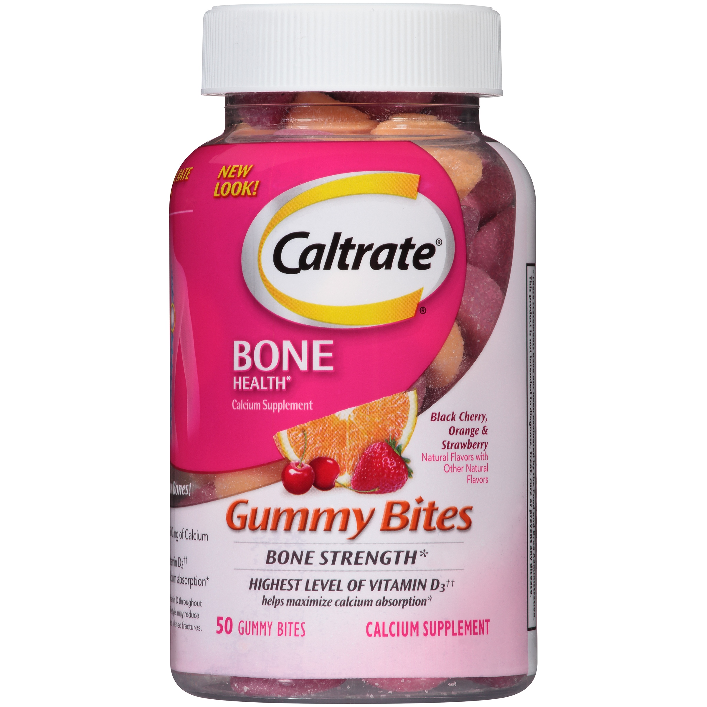 Caltrate Bone Health Flavored Calcium Gummy Bites, 50 Ct