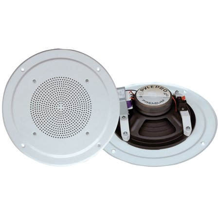 PYLE PDICS54 - 5'' Inch In-Wall / Ceiling Speaker with 100V Transformer Tap (for Commercial PA Intercom System) (100 (Best Cmple In Ceiling Speakers)