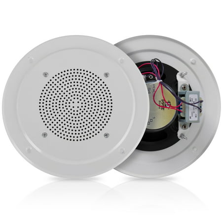 PYLE PDICS54 - 5'' Inch In-Wall / Ceiling Speaker with 100V Transformer Tap (for Commercial PA Intercom System) (100