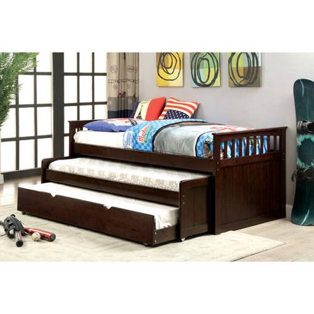 Furniture of America Nason Nesting Twin Daybed with Trundle, Dark Walnut ()