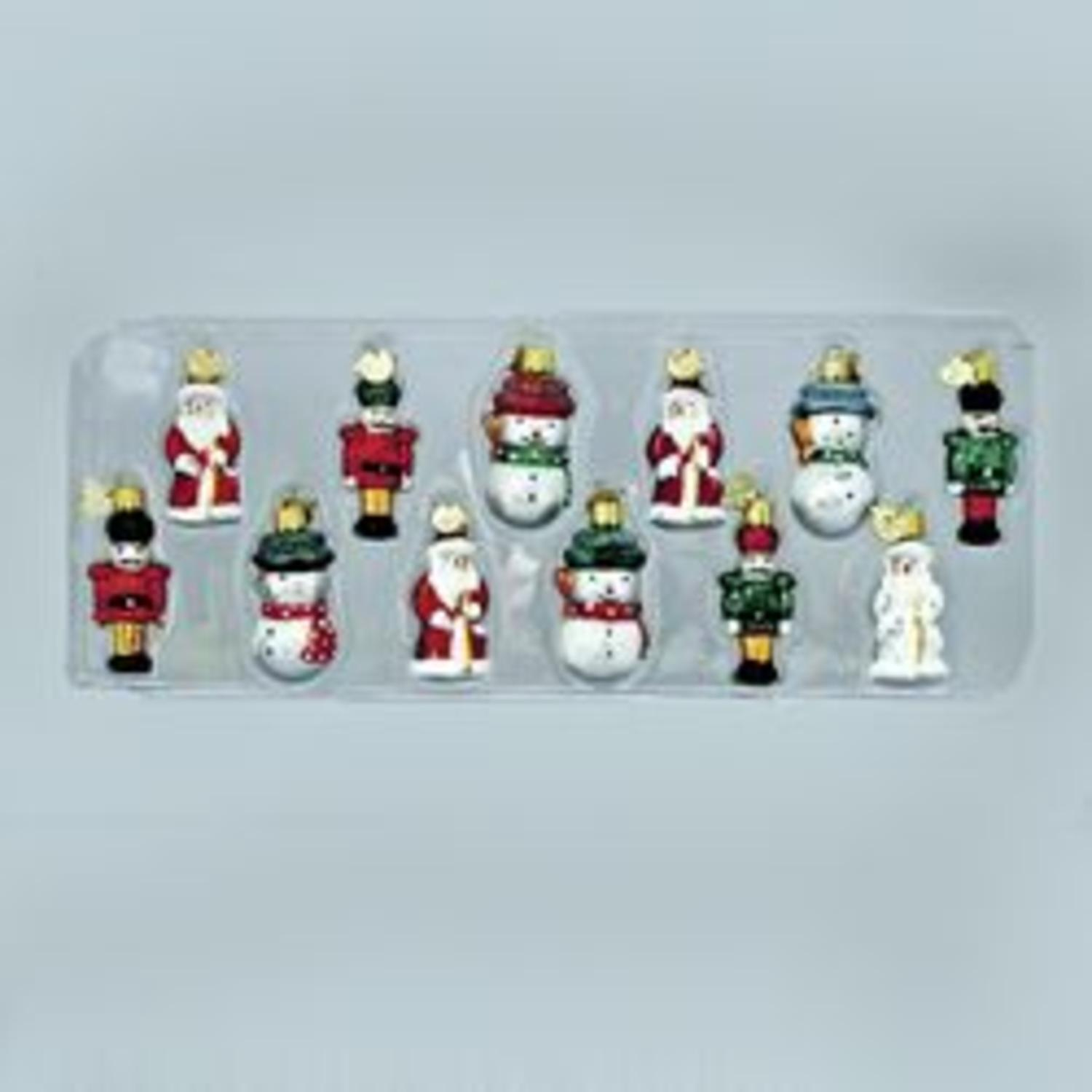 Club Pack of 72 Petite Treasures Miniature Glass Christmas Ornaments 2.75""