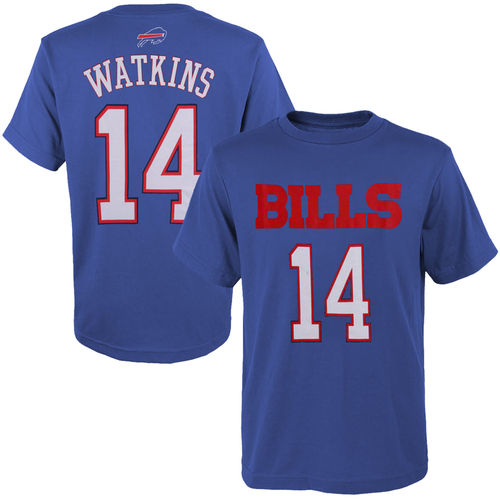 Youth Sammy Watkins Navy Blue Buffalo Bills Primary Gear Player Name & Number T-Shirt